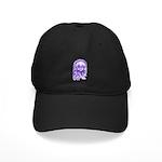 Purple Singing Skull Black Cap