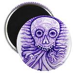 Purple Singing Skull Magnet