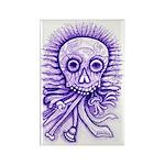 Purple Singing Skull Rectangle Magnet