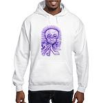 Purple Singing Skull Hooded Sweatshirt