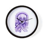 Purple Singing Skull Wall Clock