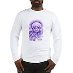 Purple Singing Skull Long Sleeve T-Shirt