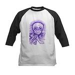 Purple Singing Skull Kids Baseball Jersey