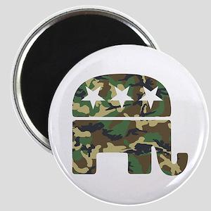 Republican Camo Elephant Magnet