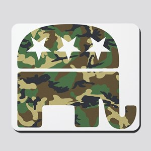 Republican Camo Elephant Mousepad