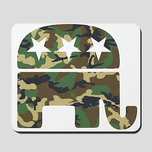 Republican Camo Elephant Mousepad
