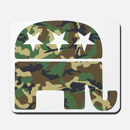 Republican Camo Elephant.png Mousepad