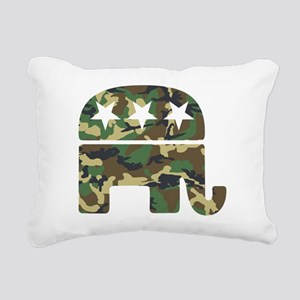Republican Camo Elephant Rectangular Canvas Pi