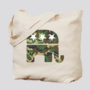 Republican Camo Elephant Tote Bag