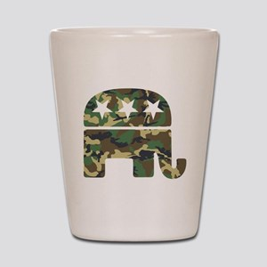 Republican Camo Elephant Shot Glass