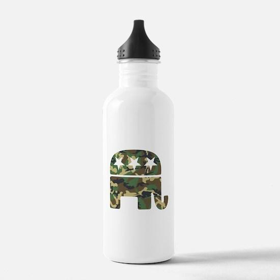 Republican Camo Elephant.png Water Bottle