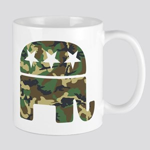 Republican Camo Elephant Mug