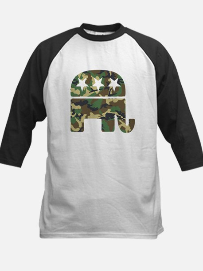 Republican Camo Elephant.png Kids Baseball Jersey
