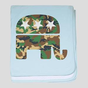 Republican Camo Elephant baby blanket