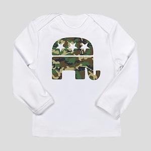 Republican Camo Elephant Long Sleeve Infant T-