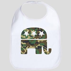 Republican Camo Elephant Bib