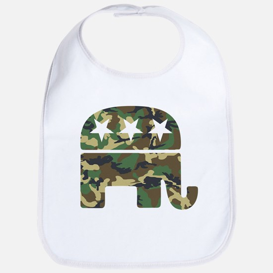Republican Camo Elephant.png Bib