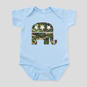 Republican Camo Elephant Infant Bodysuit