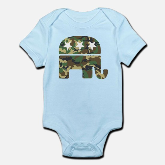 Republican Camo Elephant.png Infant Bodysuit