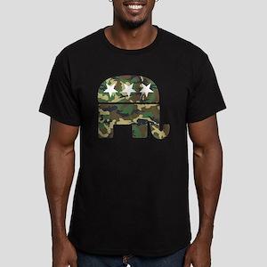 Republican Camo Elephant Men's Fitted T-Shirt