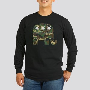 Republican Camo Elephant Long Sleeve Dark T-Sh
