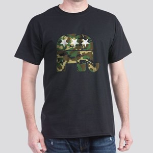 Republican Camo Elephant Dark T-Shirt