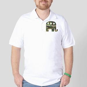 Republican Camo Elephant Golf Shirt