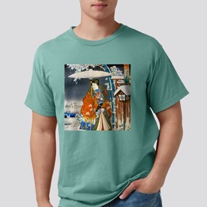Viewing the Snow (right) Mens Comfort Colors Shirt