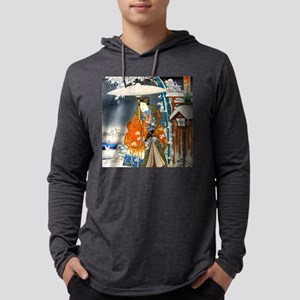 Viewing the Snow (right) square Mens Hooded Shirt