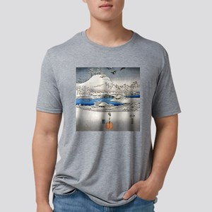 Viewing the Snow (center) s Mens Tri-blend T-Shirt