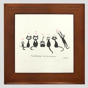 Beatniks' Kittens Framed Tile