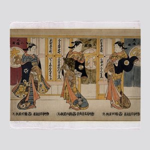 Beauties of the three capitals triptych - Kiyomasu