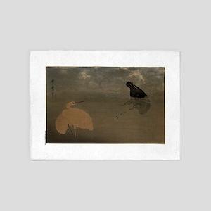 Cormorant and white heron - Utamaro Kitagawa - 178