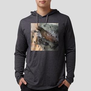 sealion clock Mens Hooded Shirt