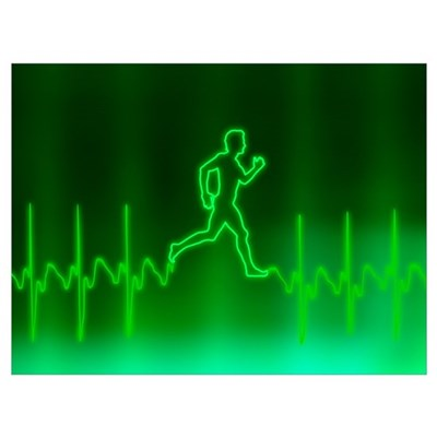 ECG and man running Poster