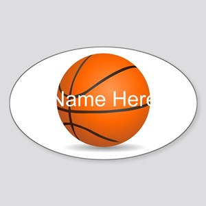 Customizable Basketball Ball Sticker (Oval)