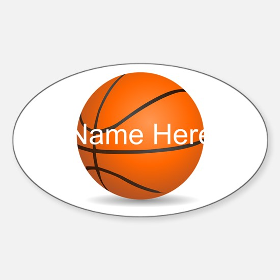 Customizable Basketball Ball Sticker (Oval)