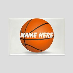 Customizable Basketball Ball Rectangle Magnet