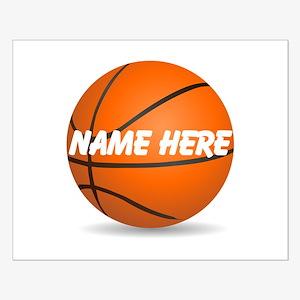 Customizable Basketball Ball Small Poster