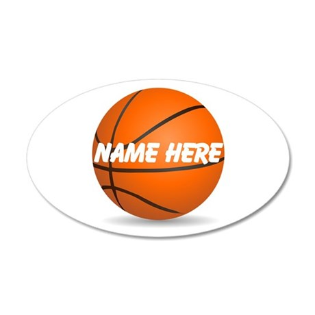 Customizable Basketball Ball 20x12 Oval Wall Decal