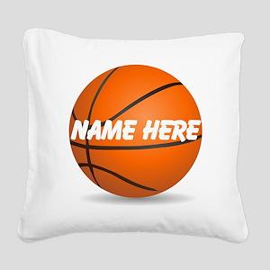 Customizable Basketball Ball Square Canvas Pillow