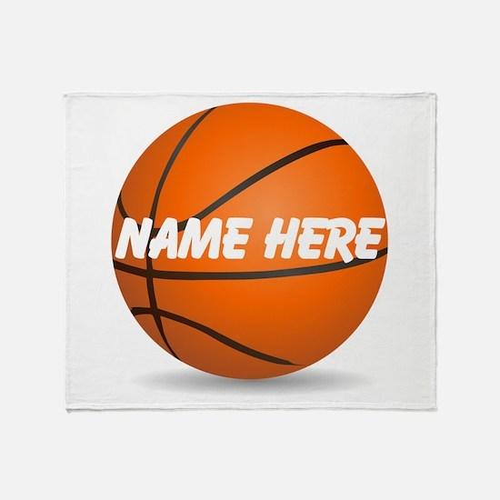 Customizable Basketball Ball Throw Blanket