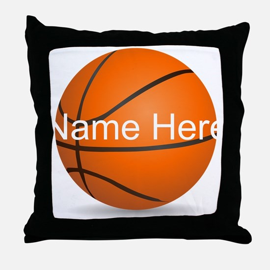 Customizable Basketball Ball Throw Pillow