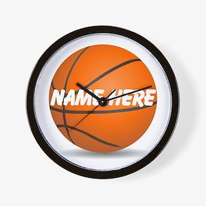 Customizable Basketball Ball Wall Clock