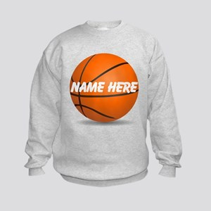Customizable Basketball Ball Kids Sweatshirt
