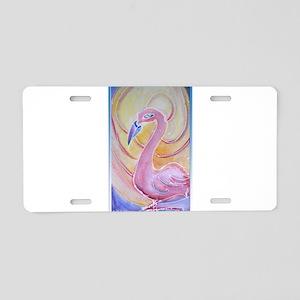 Flamingo! Pink Falmingo! Art! Aluminum License Pla
