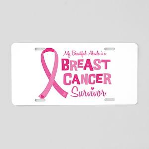 Breast Cancer Abuela Aluminum License Plate