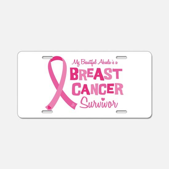 Breast Cancer Abuela Aluminum License Plate