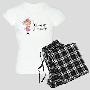 10 Year Survivor Breast Cancer Women's Light Pajam