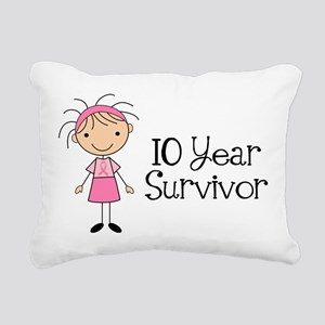 10 Year Survivor Breast Cancer Rectangular Canvas
